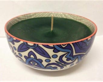 Blue and White Bowl Candle
