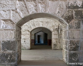 Archways, Architecture, Building, Empty, Arch, Repetition, White, Black, Silver, Stone, photograph