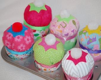 Fabric play cupcakes