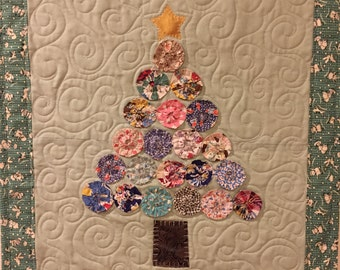 Vintage Christmas Tree Wall Quilt by Ellen Abshier of Laugh Sew Quilt