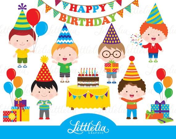 birthday boy clipart birthday clipart celebration clipart rh etsystudio com happy birthday boy clipart birthday boy clipart black and white