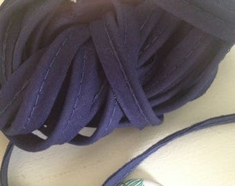 Width 1 cm dark blue piping