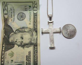 Large Cross, Sterling Silver Cross, Mens Cross, Ladies Cross,  Cross With Chain