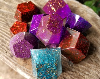 Sparkly Jewel Resin Magnets! Set of 3