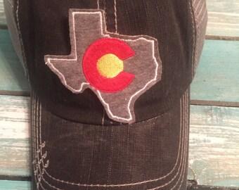 Texas Colorado trucker hat