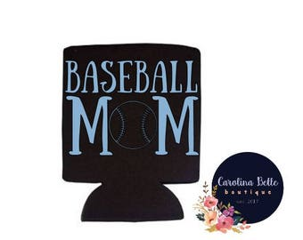 Baseball Mom Collapsible Can Cooler