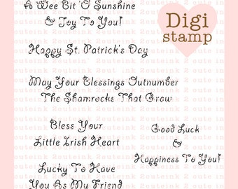 St. Patrick's Day Sentiments for Card Making and Paper Crafts