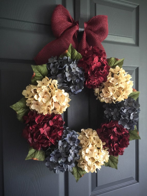 Patriotic Wreath Americana Decor 4th Of July Wreath Red
