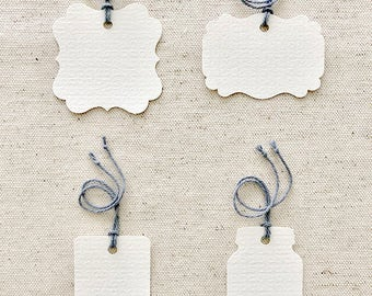 80 LB Furniture Finish Blank Multipurpose Tags | Set of 50 | White