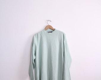 Loose Seafoam Knit Sweater