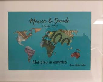 Money Gift Silver Frame