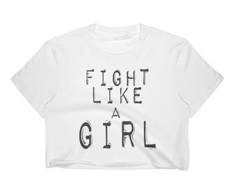Fight Like a Girl Women's Crop Top