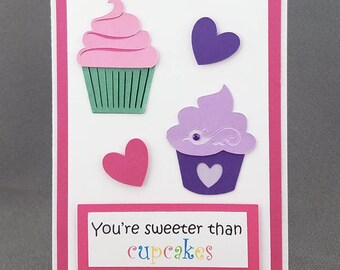 Handmade Cupcakes Valentines Day Card