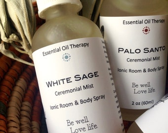 WHITE SAGE spray 2 ounce, smudge, essential oil, for meditation, ritual, ceremony, clearing, purification, shamanic work, Reiki
