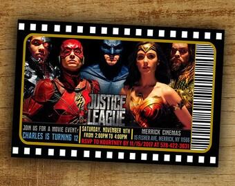 Justice league invitationjustice league birthdayjustice justice league birthday invitation justice league movie invitation digital printable justice league party stopboris Images