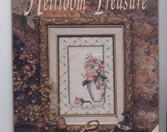Peach Floral Counted Cross-Stitch Kit