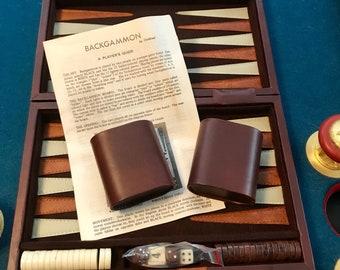 Vintage Backgammon Set - Travel Size - Magnetic - Like New