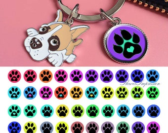 Paws -   1/2 inch or 12 mm Images 4x6 Digital Collage INSTANT DOWNLOAD