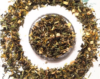 Green Tea HONEY - GINGER Delicious Flavoured Green Tea Loose Leaf