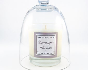 Champagne Whispers + Glass Dome