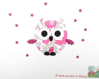 Applied fusing OWL liberty Betsy bougainvillea flex sequined applique liberty fusible patch iron OWL owl pattern