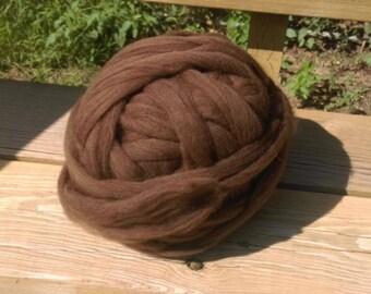 Natural Alpaca Merino Top for spinning/felting/knitting   8 ounces