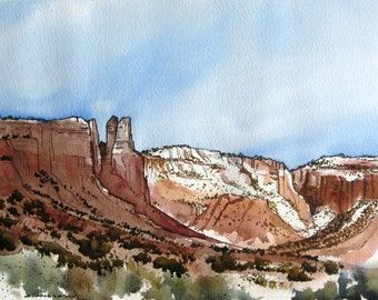 Ghost Ranch Canyon - Original Watercolor Painting