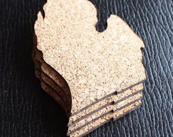 Michigan Cork Coaster - Set of 4