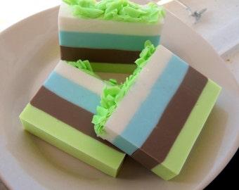 Citrus Basil Homemade Soap, Soaps, glycerin soap. handmade soap, homemade soaps, layered soap