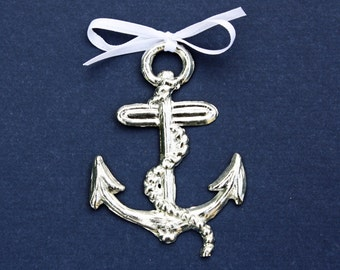 Anchor Pewter Ornament