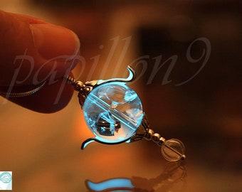 Heart of Kandrakar / Crystal Kandrakar / GLOW in the DARK / Crystal Necklace / Kandrakar Necklace