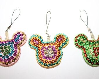 Mickey ears felt charm , felt charm , keychain charm , planner charm , felt embellishment, zipper charms
