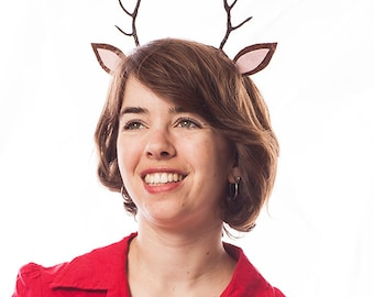 Deer Antler Headband: MADE TO ORDER