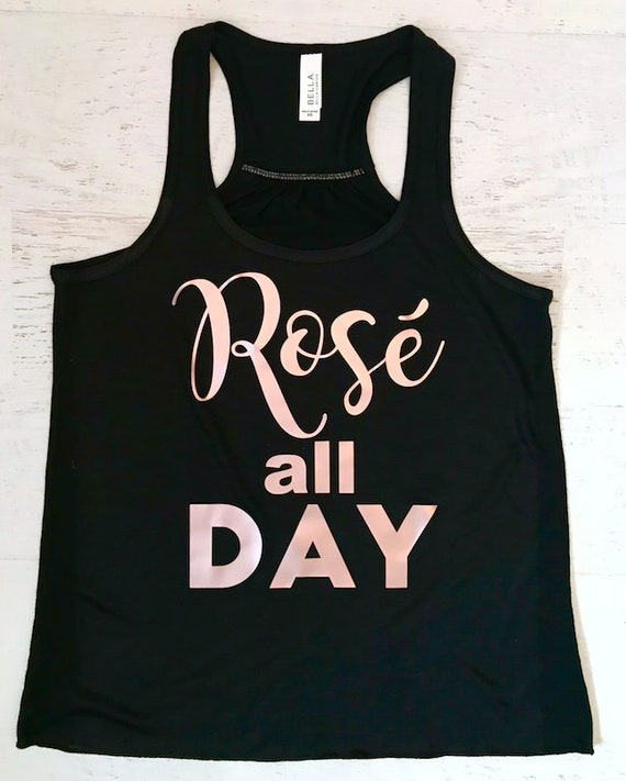 Rose all Day Rose Gold Metallic Print Tank Top Flowy Racerback