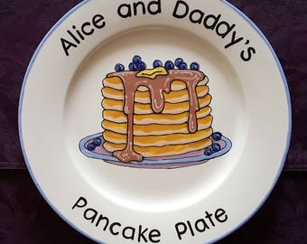 Father's Day Gift Pancake Plate Mother's Day Unique present for Dad Keepsake Grandmother Grandfather Birthday Mom Daddy Nana Grandpa custom