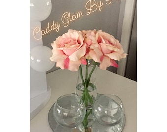 Pink Rose Circle Caddy