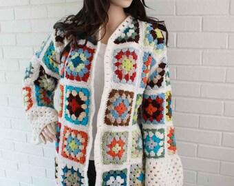 Granny Square Coat Pattern PDF