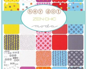 Zen Chic HEY DOT Collection Fat Quarter Bundle ( 40 fq's ) Precut By Moda Fabric