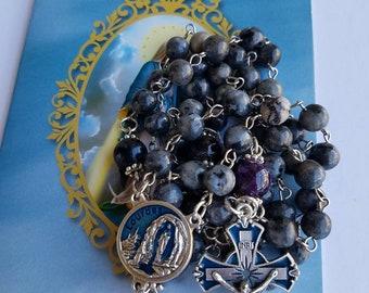 Labradorite| Traditional Rosary| Labroadorite Rosary| 5 decade Rosary