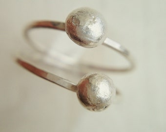 Planet and Orbit Ring - Recycled Silver Ring