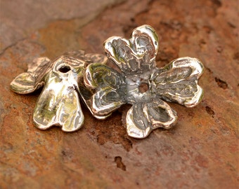 Artisan Sterling Silver Ruffled Floral Bead Cap