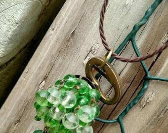 Vintage Green Beauty ~ vintage key necklace