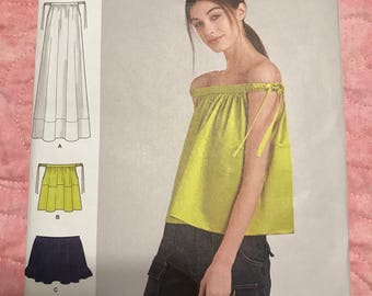 Simplicity/Cynthia Rowley pattern 8381, misses' dress or top (Preowned by designer)