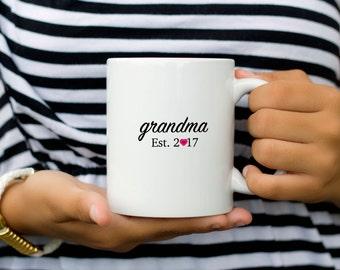 Gift for Grandma Mug, Grandma to be mug, Grandmother Mug, New Grandma Mug, Grandma Coffee Mug, New Grandmother Gift, Mothers Day Gift