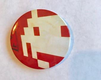 Button pin - space invader sticker art
