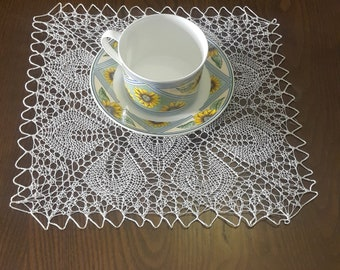White lace doilies  Handmade vintage doily coasters crochet doily coasters lace coasters vintage hand crocheted doilies table runners