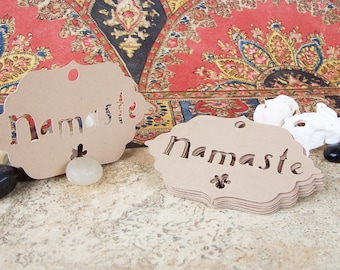 25•NAMASTE with Daisy Tags•Tags•Price Tags•Gift Tags•Yoga Tags•Yoga Gift Tag