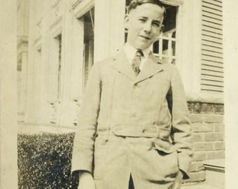 vintage photo 1919 Seaborn Flournoy Wellsville NY 16 yrs old