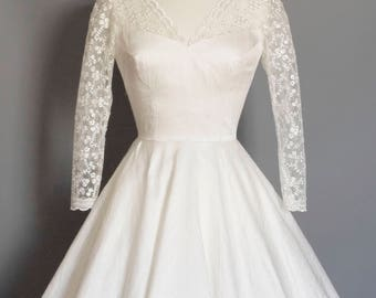 Ivory Silk Dupion & Lace Princess Bodice Wedding Dress - Made by Dig For Victory