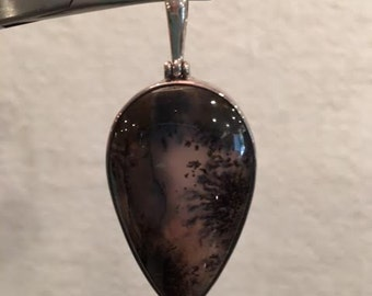 Russian Agate Sterling Silver Pendant 69.47ct